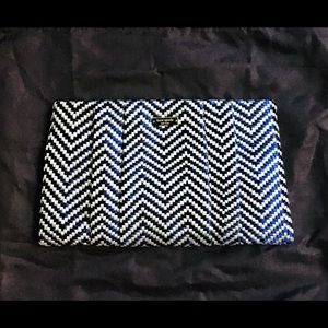 Kate Spade Blue and White Clutch